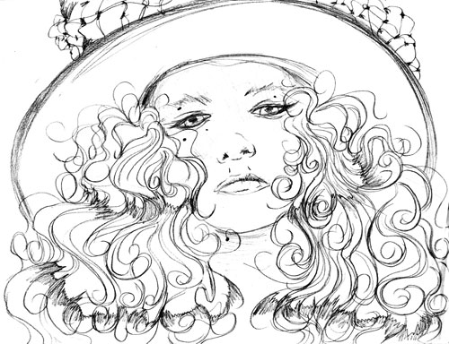 Portrait sketch of Christina